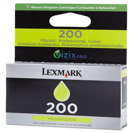 Lexmark No.200 (14L0088) Original Yellow Standard Yield Return Program ink Cartridge
