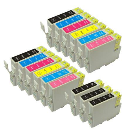 T0331/336 2 Full Sets + 3 EXTRA Black Remanufactured Inks