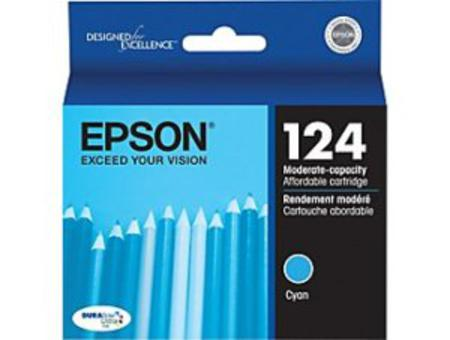 Epson 124 Cyan Original Moderate Capacity Ink Cartridge