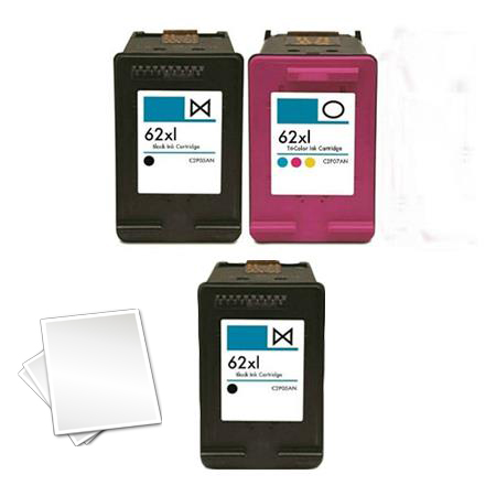 62XL Full Set + 1 EXTRA Black Remanufactured Inks (Free Paper)