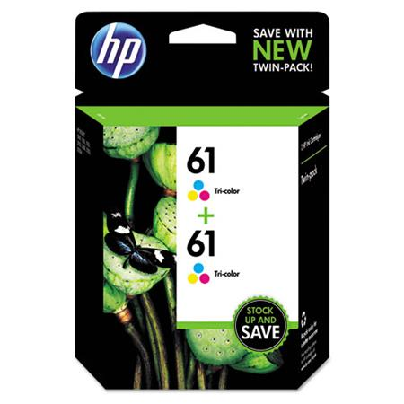 HP 61 (CZ074FN) Tri-Color Original Ink Cartridges (Twin Pack)