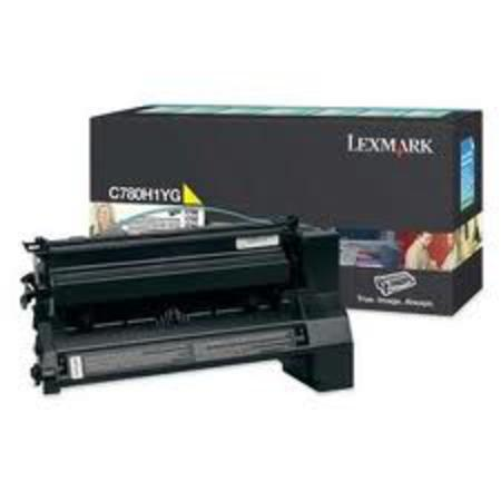 Lexmark C782X1YG Original Yellow Extra-High Yield Return Program Toner Cartridge