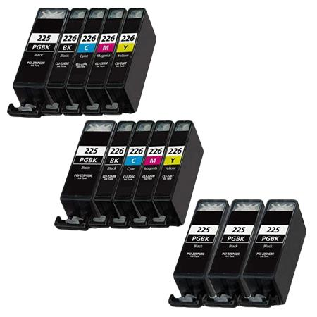 Clickinks PGI-225BK/CLI-226BK 2 Full Sets + 3 EXTRA Black Compatible Inks