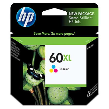 HP 60XL Tri-Color Original High Capacity Ink Cartridge (CC644WN)