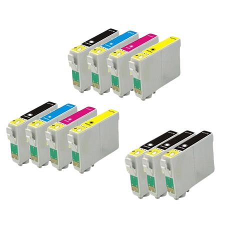 T0601/604 2 Full set + 3 EXTRA Black Remanufactured Inks