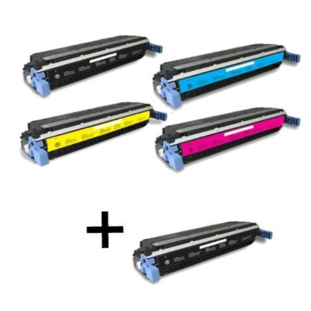 C9730A/33A Full Set + 1 EXTRA Black Remanufactured Toner Cartridge