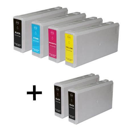 786XL 1 Full Set + 2 EXTRA Black Remanufactured Inks