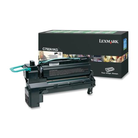 Lexmark C792A1KG Original Black Standard Capacity Return Program Toner Cartrigde