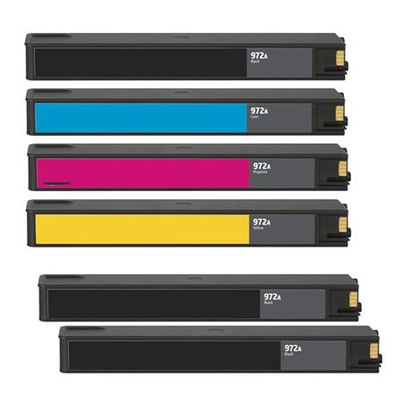 972A BK/C/M/Y 2 Full set + 1 EXTRA Black Remanufactured Standard Capacity Inks