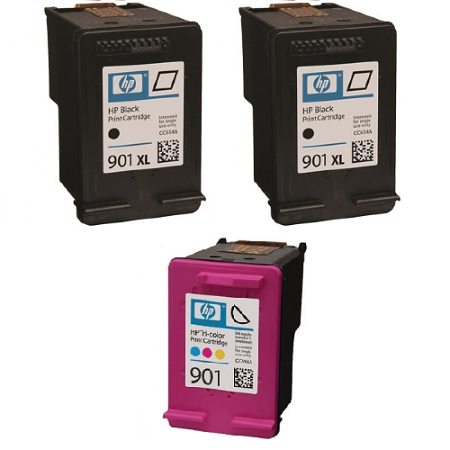 901XL Full Set + 1 EXTRA Black Remanufactured Inks