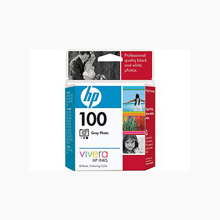 HP 100 Gray Photo Original Inkjet Print Cartridge with Vivera Inks (C9368AN)