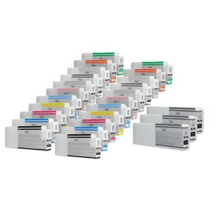 Clickinks T6361/T636B 2 Full Set + 3 EXTRA Black Remanufactured Inks