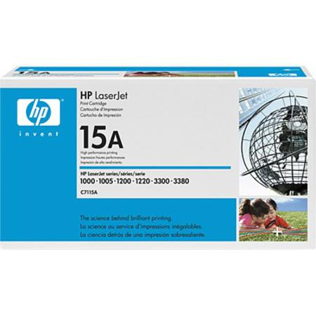 HP LaserJet 15A (C7115A) Black Original Standard Capacity Print Cartridge with Ultraprecise Technology