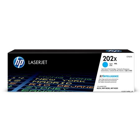 HP 202X Cyan Original High Capacity Toner Cartridge (CF501X)