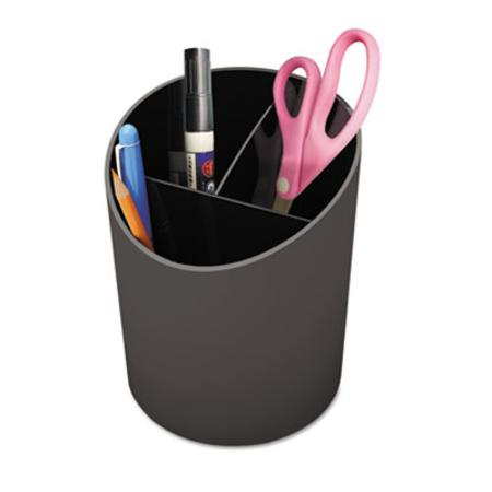Universal Recycled Big Pencil Cup  Plastic  4 1/4 dia. x 5 3/4  Black