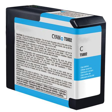 Epson T580200 (T5802) Cyan Remanufactured Ink Cartridge