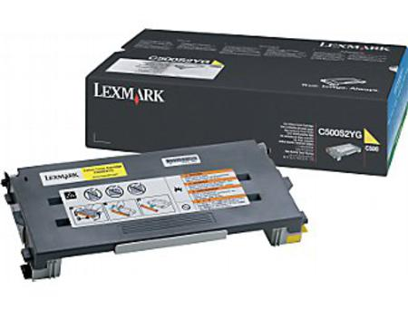 Lexmark C500 Original Yellow High Yield Toner Cartridge
