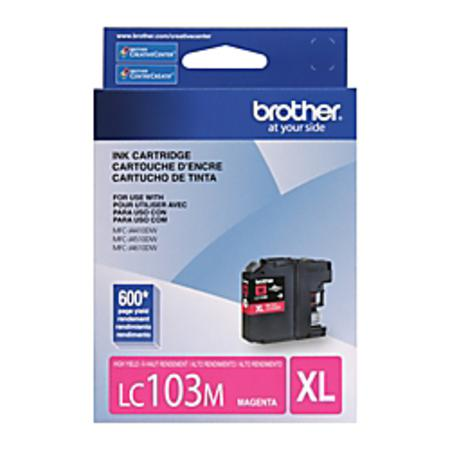 Brother LC103M Magenta Original High Capacity Ink Cartridge