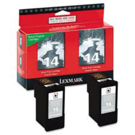 Lexmark No.14 (18C2228) Original Black Ink Cartridges 2-Pack