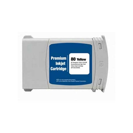 HP 80 Yellow Dye Remanufactured High Capacity Ink Cartridge (C4848A) (350ml)