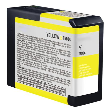Epson T580400 (T5804) Yellow Remanufactured Ink Cartridge