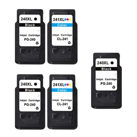 PG-240XL/CL-241XL 2 Full Sets + 1 EXTRA Black Remanufactured Ink
