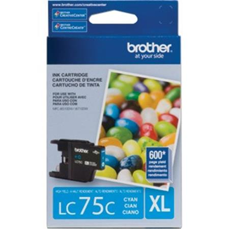 Brother LC75 (LC75C) Cyan Original High Yield Ink Cartridge