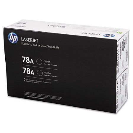 HP 78A Black Original Toner Cartridges (Twin Pack)