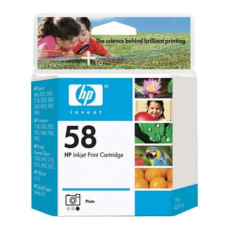 HP 58 Photo Original Inkjet Print Cartridge (C6658AN)