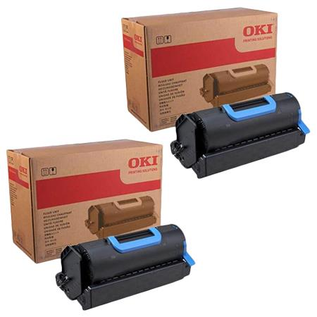 45488901 Black Original Toner Cartridges Twin Pack