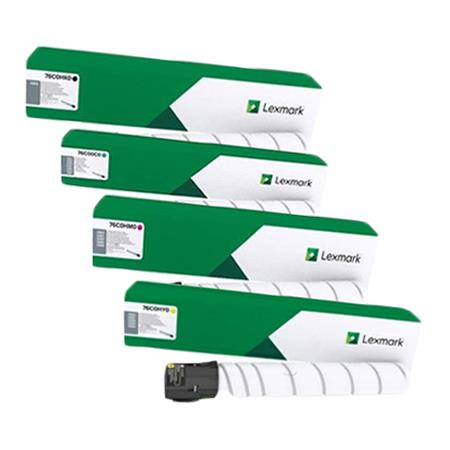 Lexmark 76C0HK/C/M/Y0 Full Set Original High Capacity Toner Cartridges