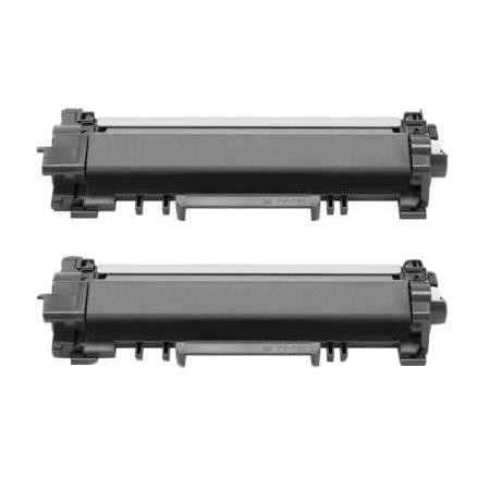Compatible Twin Pack Brother TN760 Black High Capacity Toner Cartridges