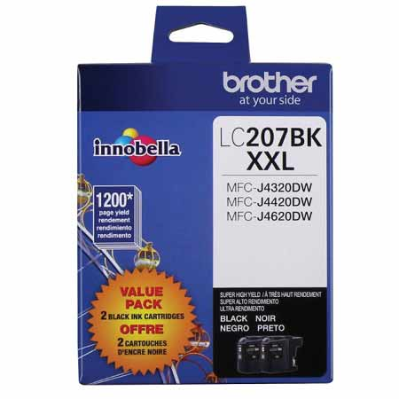 Brother LC2072PKS Original Black Extra High Capacity Ink CartridgeS - 2 Pack