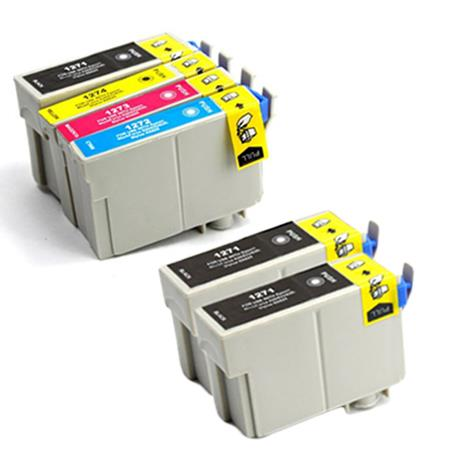 Compatible Multipack Epson 127 Full Set + 2 EXTRA Black Ink Cartridges