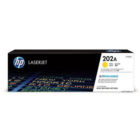 HP 202A Yellow Original Standard Capacity Toner Cartridge (CF502A)
