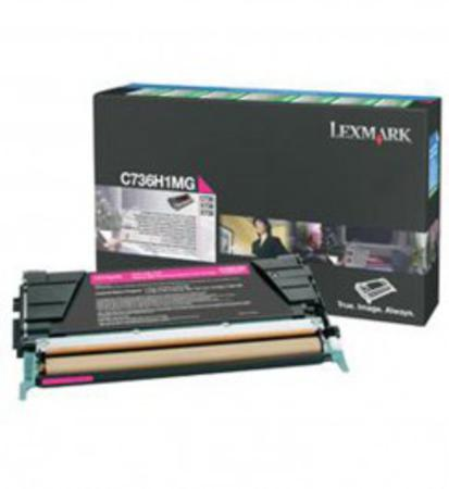 Lexmark C736H1MG Magenta Original High Yield Return Program Toner Cartridge