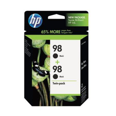 HP 98 (C9514FN) Original Black Ink Cartridge( Twin Pack)