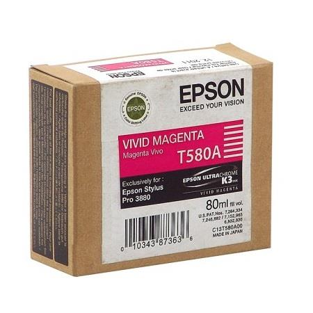 Epson T580A (T580A00) Original Vivid Magenta Ink Cartridge