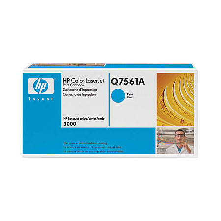 HP Color LaserJet Q7561A Cyan Original Print Cartridge with HP ColorSphere Toner