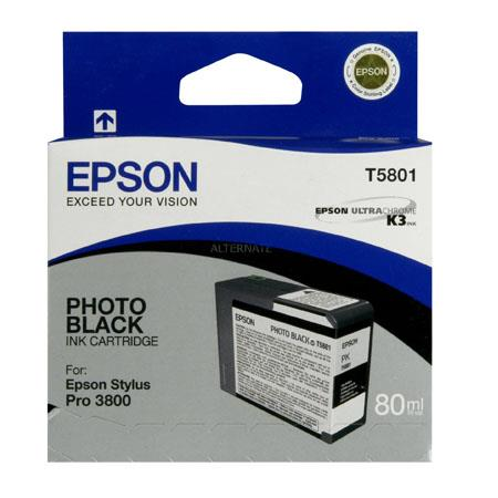 Epson T5801 (T580100) Original Photo Black Ink Cartridge