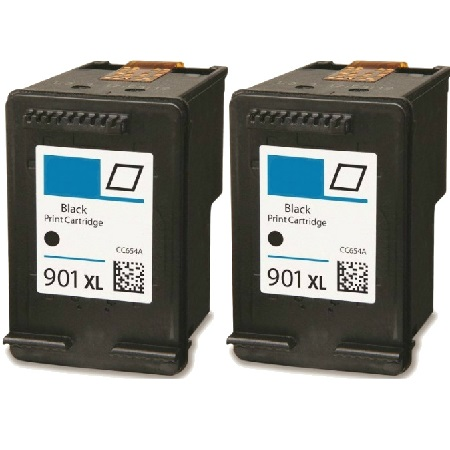 901XL Black Remanufactured Inks Twin Pack