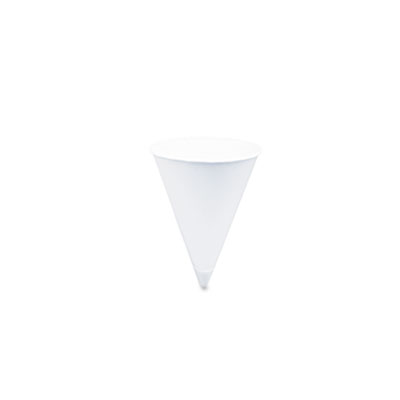 SOLO Cup Company Cone Water Cups  Cold  Paper  4 oz.  White  25 Bags of 200/Carton