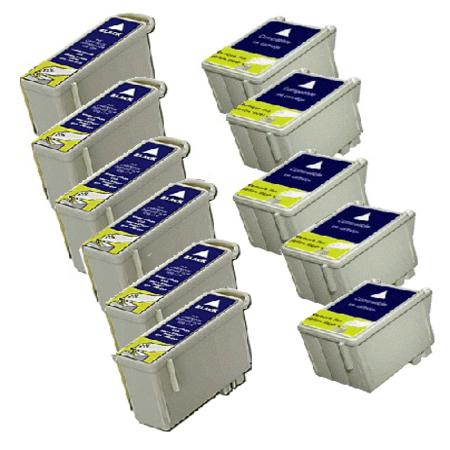 Compatible Multipack Epson T036/T037 5 Full Sets Ink Cartridges