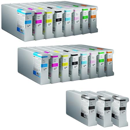 T6241/248 2 Full Sets + 3 EXTRA Black Remanufactured Inks
