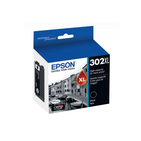 Epson 302XL (T302XL020-S) Black Original High Capacity Ink Cartridge