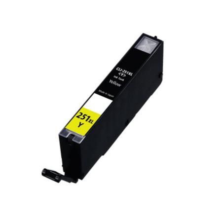 Compatible Yellow Canon CLI-251XLY Ink Cartridge (Replaces Canon 6451B001)