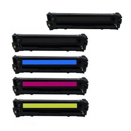 Clickinks 128A Full set + 1 EXTRA Black Remanufactured Toner Cartridge