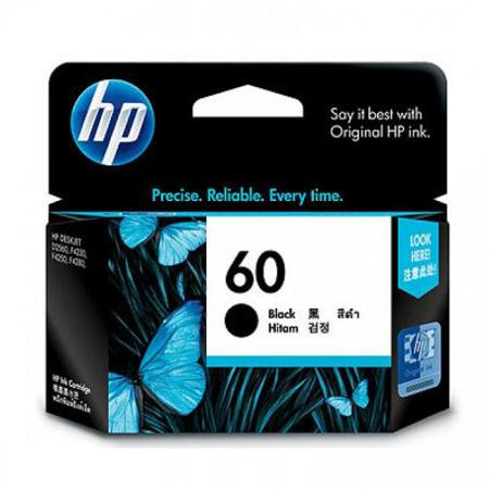 HP 60 Black Original Standard Capacity Ink Cartridge (CC640WN)