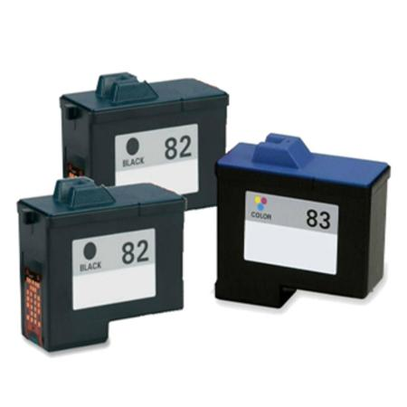 Clickinks No.82/No.83 Full Set + 1 EXTRA Black Remanufactured Ink