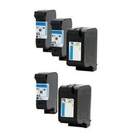 Compatible Multipack HP 45/78 2 Full Sets + 1 EXTRA Black Ink Cartridges